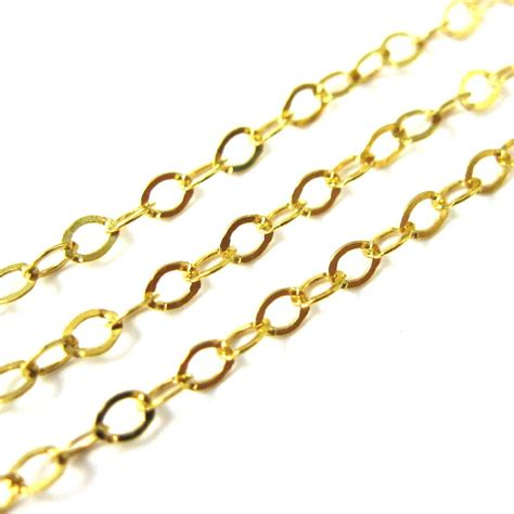 jewelry chains wholesale chain gold plated sterling silver flat cable
