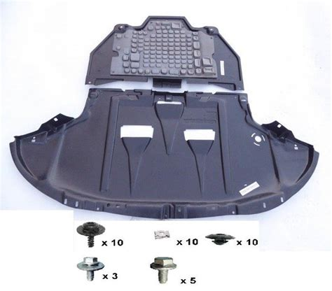 engine gearbox cover undertrayfitting kit pcs audi       body