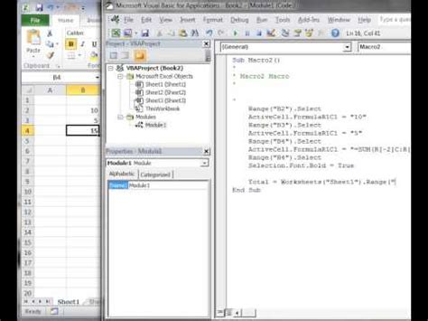 tutorial excel 2010 vba excel vba 2010 tutorial 5 intro to editing vba code youtube