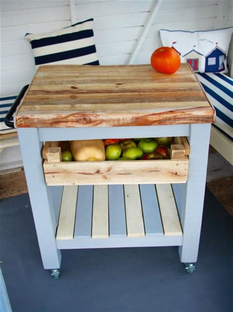 Kitchen Island Trolley Diy Pallet Kitchen Trolley Pallet Furniture Plans