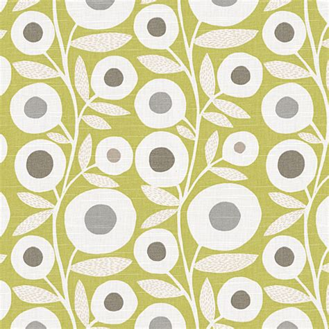 modern curtain fabric loom decor chartreuse graphic flower print fabric
