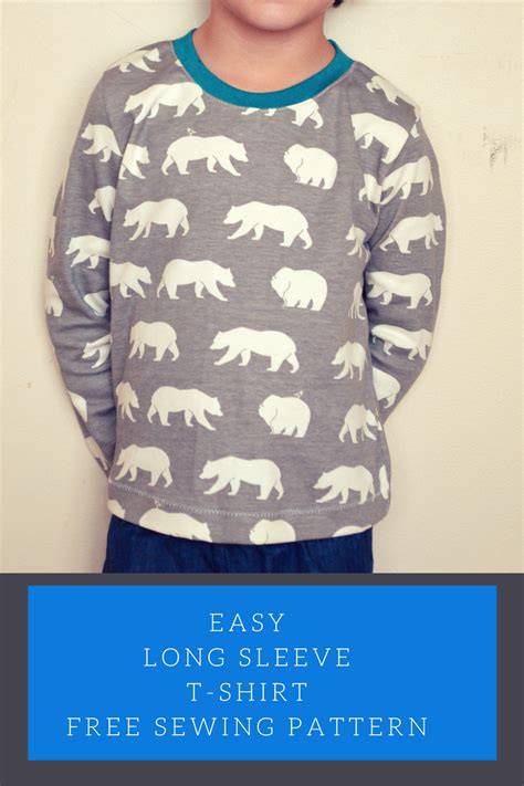 easy t shirt pattern free easy long sleeve t shirt on the cutting floor printable