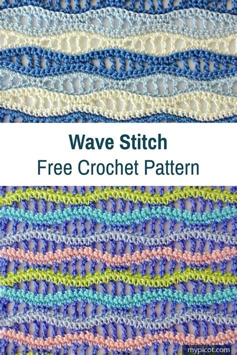 crochet wave stitch free pattern crochet stitches learn a new crochet stitch crochet wave stitch knit and