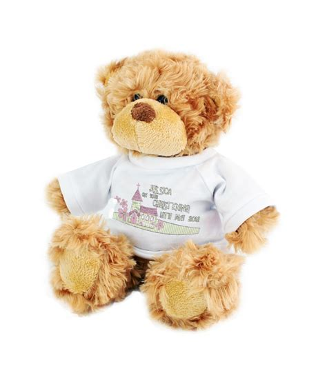 personalised pink church teddy just for gifts