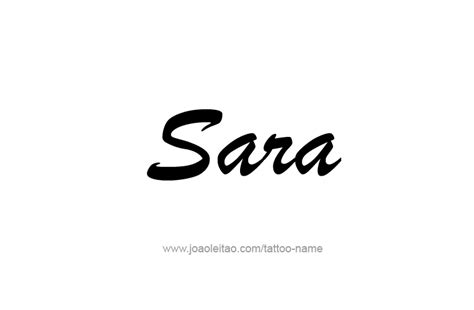 sara name tattoo designs