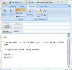 To set up auto replies in ms outlook to emulate out of office behavior