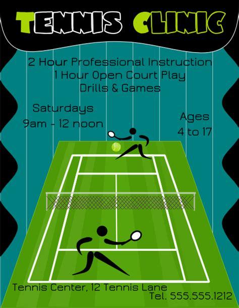 tennis flyer template free tennis clinic flyer template free view larger image flyertutor