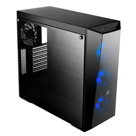 cooler master cooler master masterbox lite 5 rgb atx with tempered