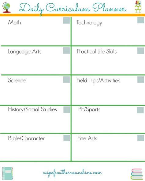 homeschool daily planner homeschool