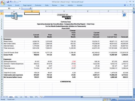 Consolidated Reporting Template Aifmd Income Statement Template Excel Free