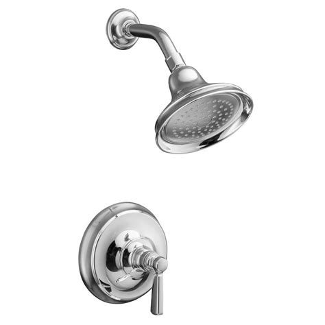 kohler bancroft 1 handle single spray shower faucet trim