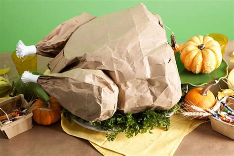 A Paper Turkey - diy paper bag turkey