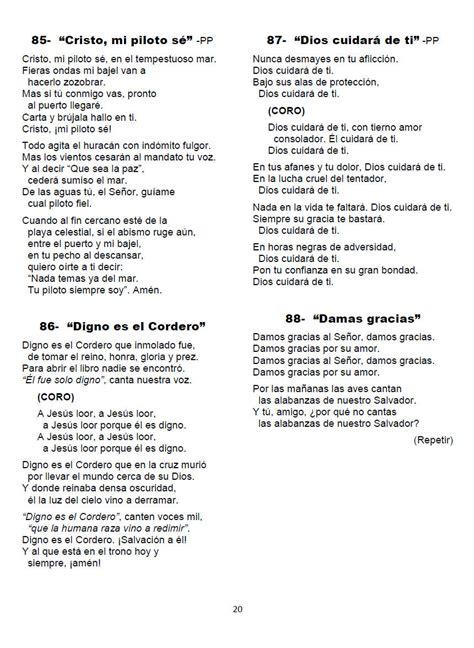letra de cantos cristianos opiniones de himnos