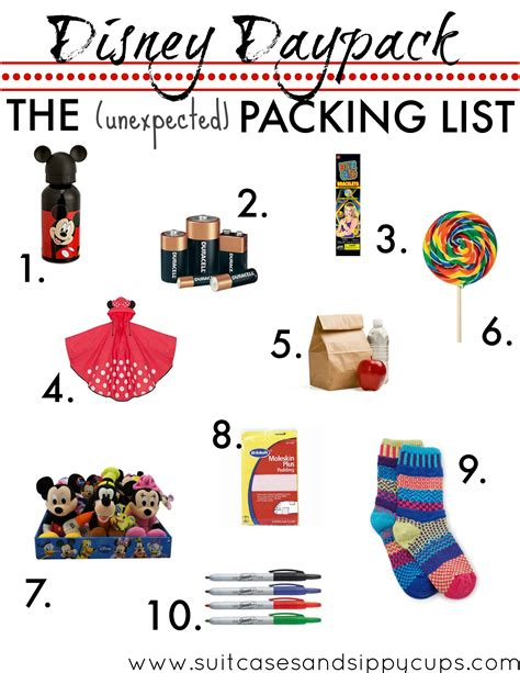 go event guide new years item pack ten items to pack in your disney daypack