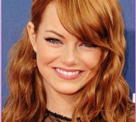 curly layers with side swept bangs side swept bangs with wavy hair medium length haircuts