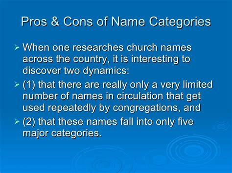 Church Is Keeping About The Name Of Newborn by On Choosing A New Church Name