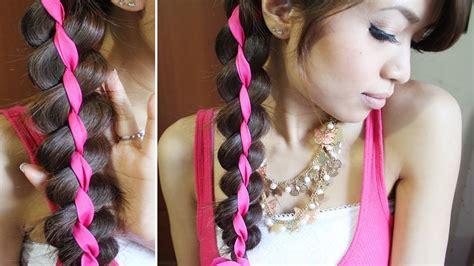 chain braid headband hairstyle for medium long hair tutorial 4 strand ribbon braid headband hairstyle for medium long