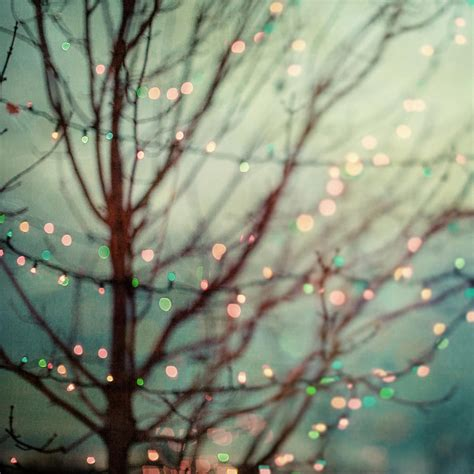 Dreamy Pastel Holiday Lights Against A Teal Night Sky Pastel Lights
