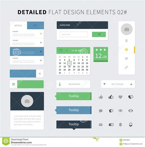 pattern web element flat design of comments on the website vector illustration