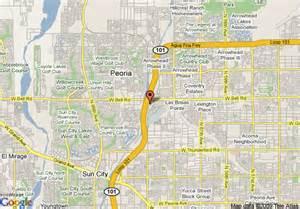 peoria arizona map map of hton inn glendale peoria peoria
