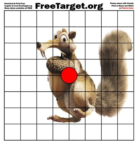 printable shooting targets squirrel squirrel targets to print the best squirrel in 2018