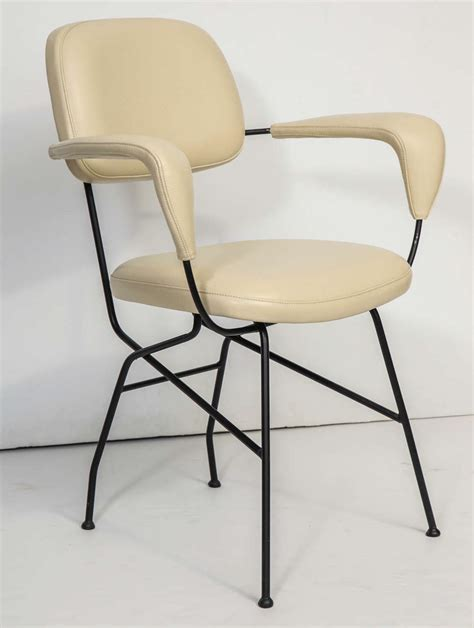 Italian Leather Armchair by Italian Leather And Iron Armchair For Sale At 1stdibs