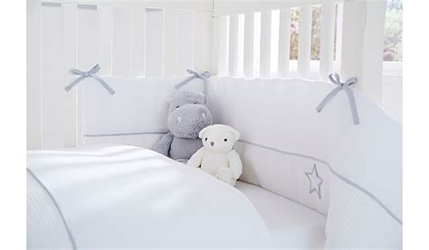 cot bed bumper and quilt set clair de lune silver lining cot cot bed quilt and bumper
