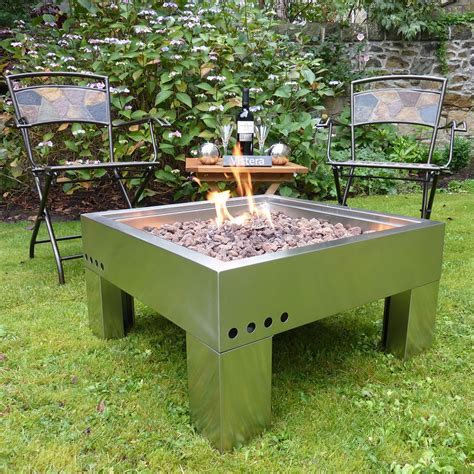 Stainless Steel Firepit Modena Stainless Steel Gas Pit