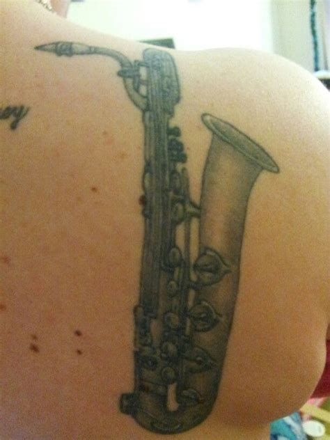 saxophone tattoo designs baritone sax tattoos current and ideas