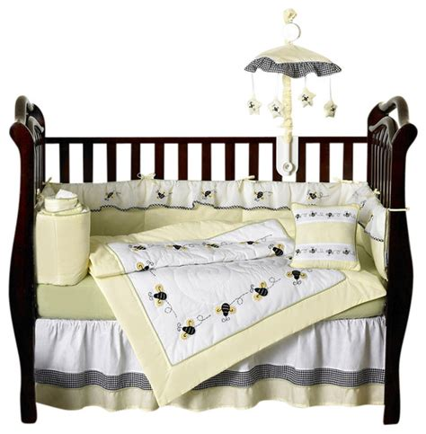 Bee Crib Bedding Bumble Bee 9 Crib Bedding Set Contemporary Cribs By Tiny Totties