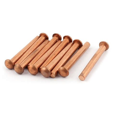 Copper L by 10 Pcs 1 4inch 2inch L Shank Copper Alloy Solid Rivets Fasteners Y8a2 Ebay