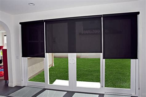 roller shades for sliding glass door roller shades on a sliding glass door yelp