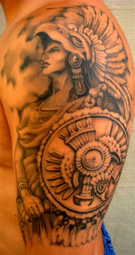 aztec rose tattoo aztec warrior at blindside tattoo studio design of