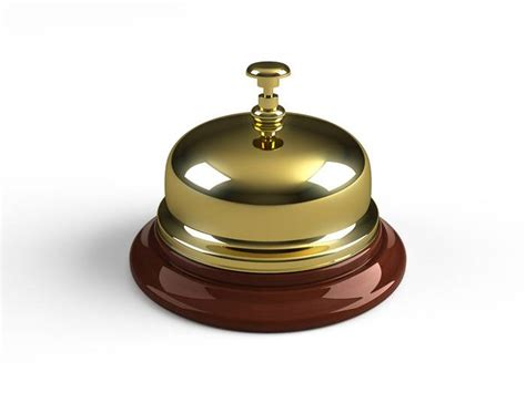 M T Hotel Reception Bell Brass On Wooden Base M T Reception Desk Bell