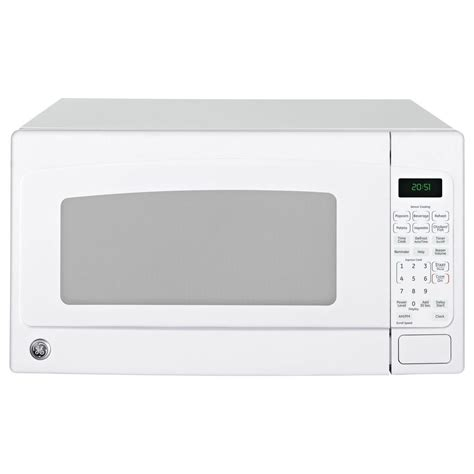 White Countertop Microwaves ge 2 0 cu ft countertop microwave in white jes2051dnww the home depot