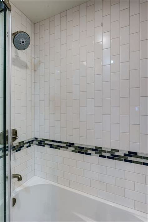 vertical subway tile 34 best images about bathroom on chrome finish