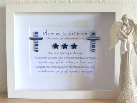 Handmade Baptism Gifts - naming day christening cross baby baptism personalised