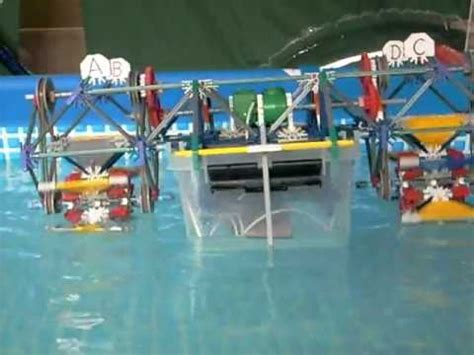 how to make a knex boat knex boat battle in pool doovi