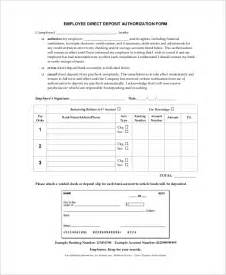 direct deposit forms for employees template sle direct deposit form 8 exles in word pdf