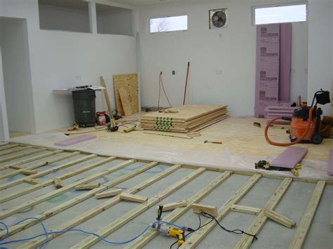 how to install a plywood shop floor the wood whisperer chainimage