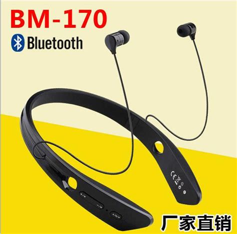 Neckband Wireless Bluetooth Stereo Headset Nfc Bm 170 Black nfc bm 170 bm 170 sports neckband wireless stereo headset bluetooth v4 0 earphone in ear