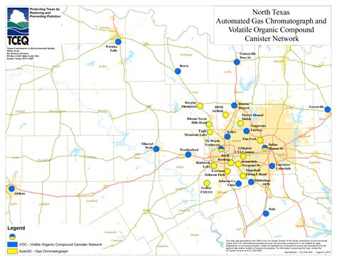 texas air quality map barnett shale maps and charts tceq www tceq texas gov