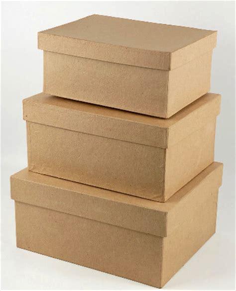 Paper Mache Boxes Set of 3
