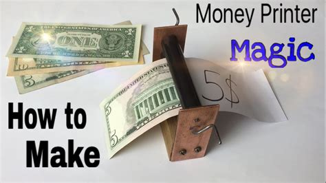 A Simple Trick To Make - how to make a money printer machine easy way magic