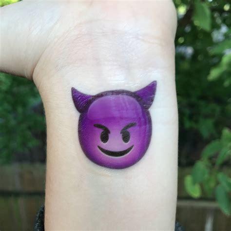 henna tattoo emoji devil emoji temporary tattoo purple smiling devil emoji