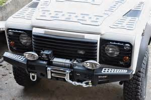 paraurti land rover defender black cover winch equipe