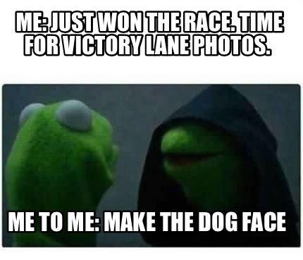 meme creator   won  race time  victory