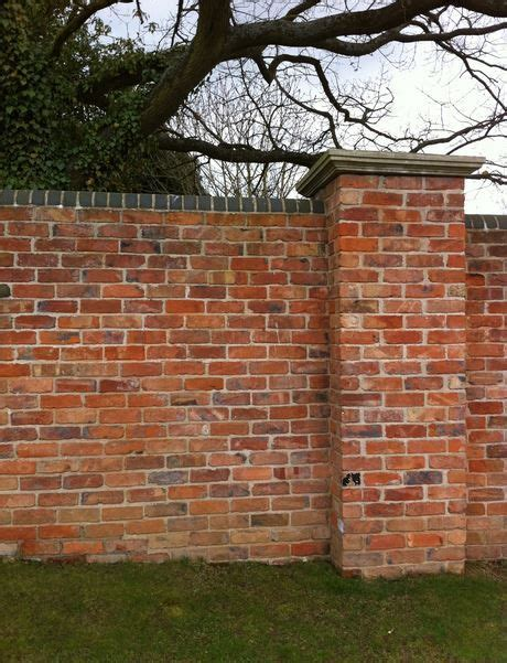 Walled Garden Brick Wall With Piers Shown Here With Blue Brick Walls For Gardens