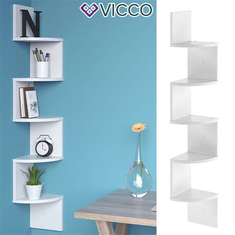 Weisse Holzregale by Vicco Eckregal Snake Wei 223 H 228 Ngeregal Wandregal Real