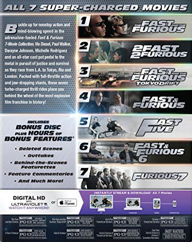 titl za film fast and furious 7 fast furious 7 movie collection blu ray digital hd